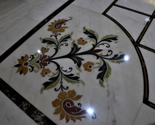 marbre au sol de l'hôtel Marmoris vila viçosa Portugal