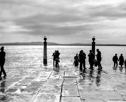 Le quai des colonnes à Lisbonne