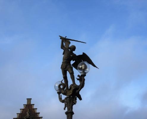À Gand/Gent en Belgique St Michel et le dragon